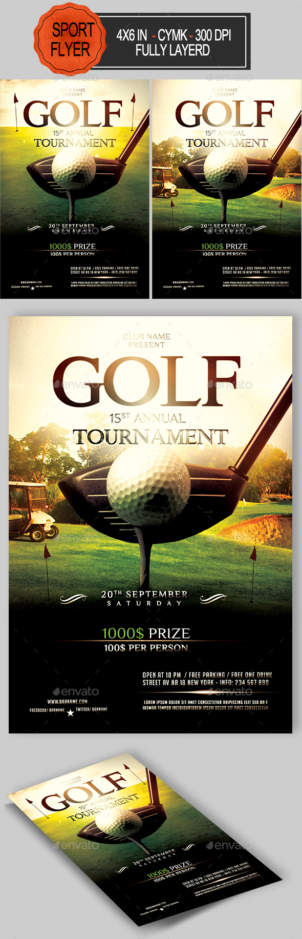 Golf Flyer Template - Sports Events