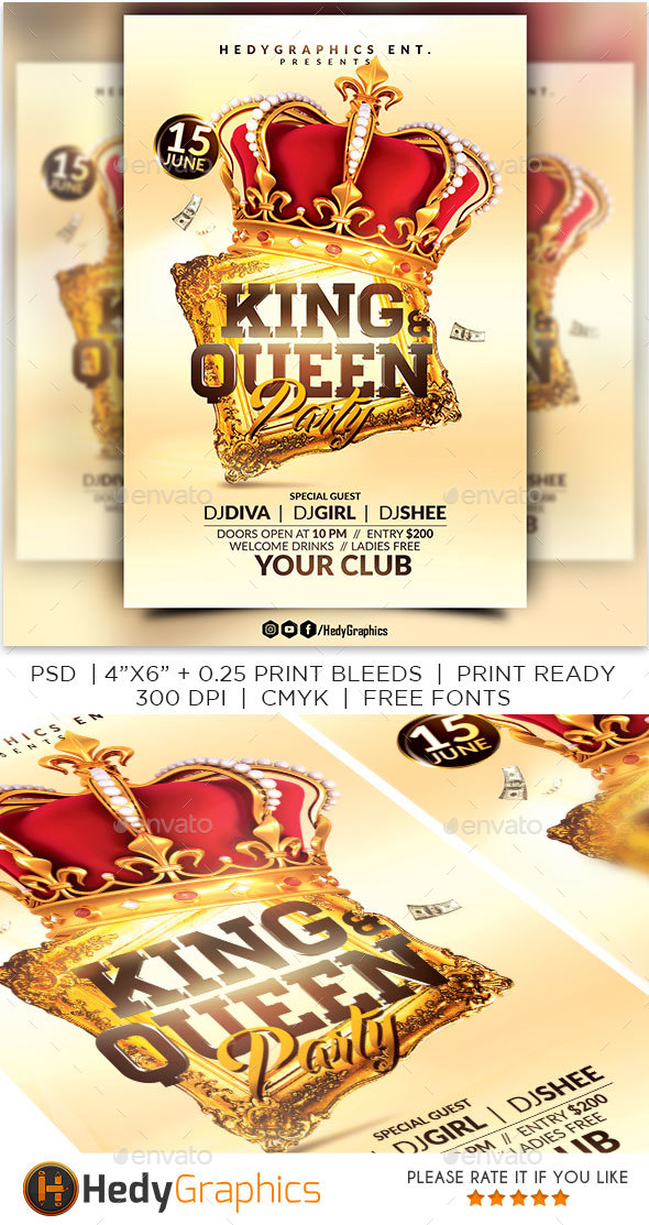 GraphicRiver King and Queen Party 20449409