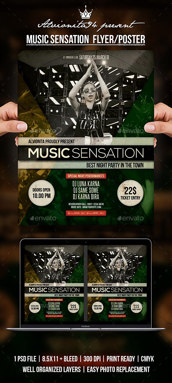 Music Sensation Flyer / Poster - Clubs & Parties Events