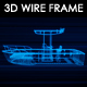 Fishing Boat v2 3D Wireframe