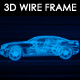 Sports Car 3D Wire Frame
