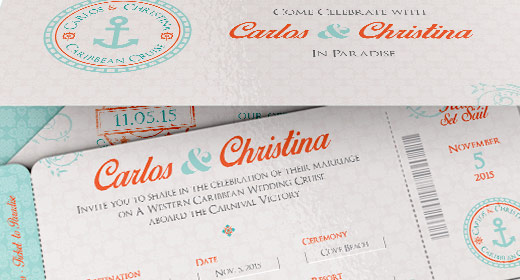 REC-Wedding Boarding Pass Invitation Templates