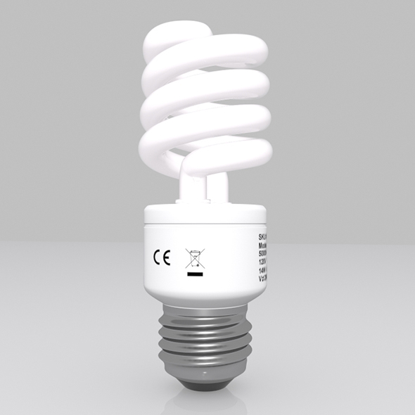 Energy Saving Light Bulb 03 - 3DOcean Item for Sale