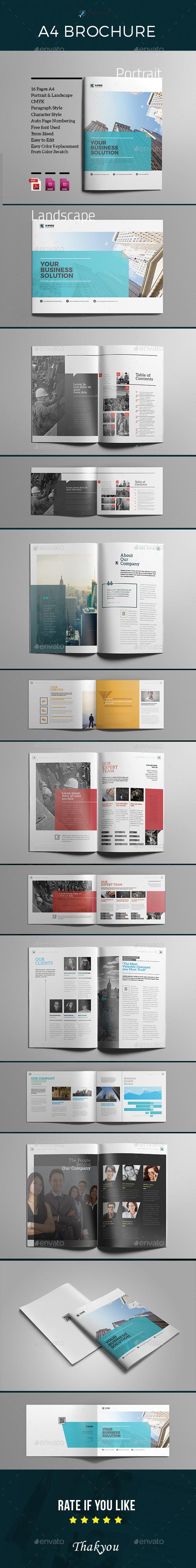 A4 Indesign Brochure - Corporate Brochures