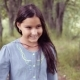 Portrait. A Little Beautiful Girl Is Walking and Smiling Beautifully - VideoHive Item for Sale