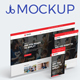 3D Web Showcase Mockup (11 PSD Files) - GraphicRiver Item for Sale