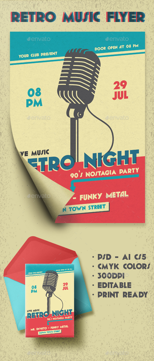 RETRO NIGHT FLYER - Events Flyers