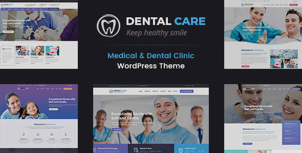 Dental Care - Medical and Teeth Clinic WordPress Theme - Business Corporate