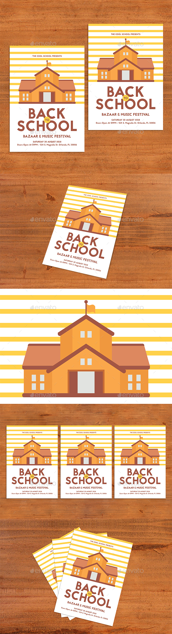 GraphicRiver Back To School Flyer 20449654