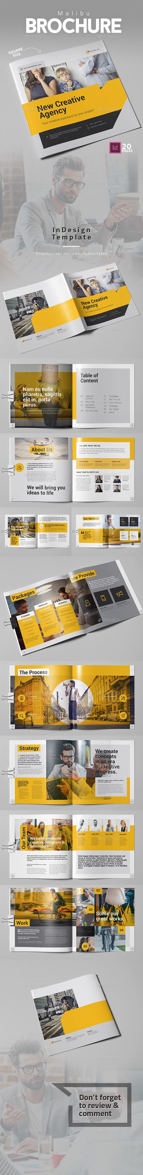 Malibu Brochure Square - Corporate Brochures