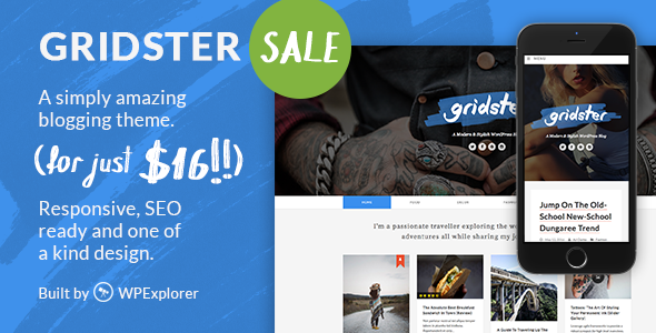 Gridster - A Responsive WordPress Blog Theme - Personal Blog / Magazine