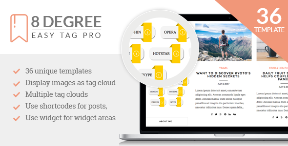 8 Degree Easy Tags Pro - Premium Tagging Plugin For WordPress