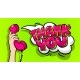 Thank You Word Bubble in Pop Art Comics Style. - GraphicRiver Item for Sale