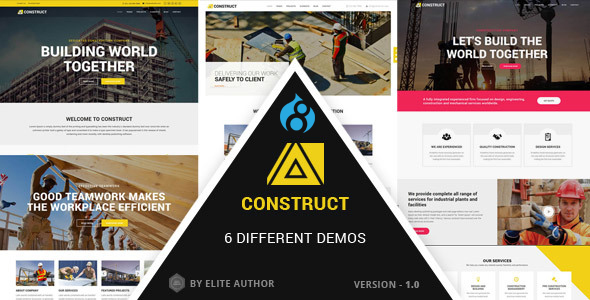 Construct - Construction, Building Company - Corporate Drupal