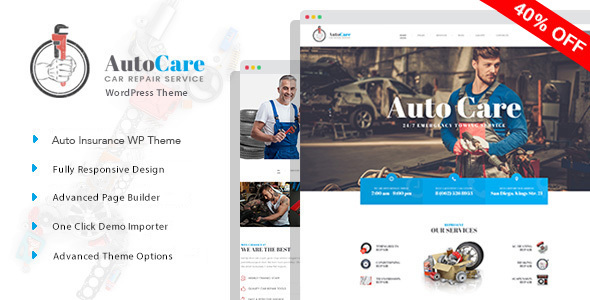 AutoCare - Auto Service WordPress Theme