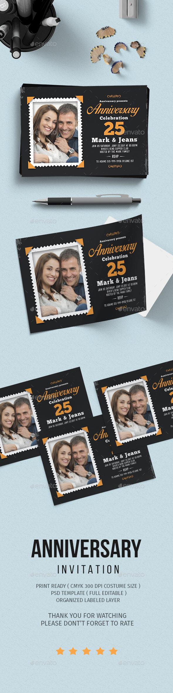 Anniversary Invitation - Invitations Cards & Invites
