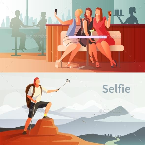 Modern People Selfie Set - People Characters