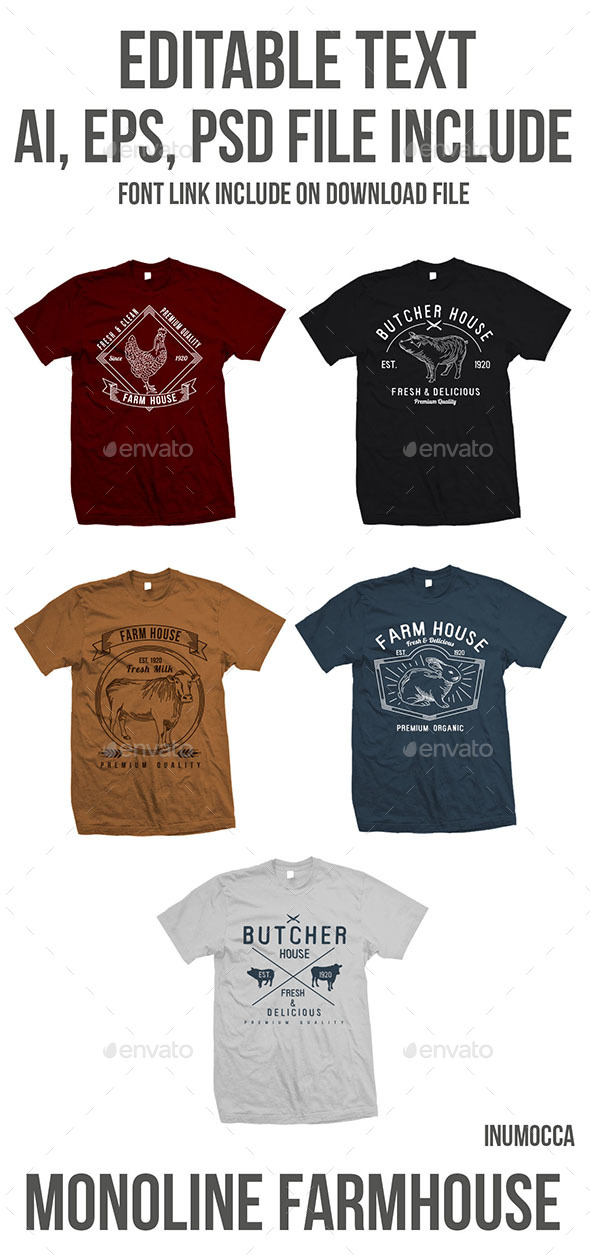 5 Farm House - T-Shirts