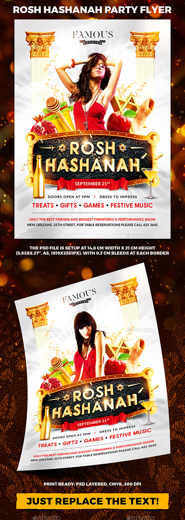 GraphicRiver Rosh Hashanah Day Party Flyer 20450183