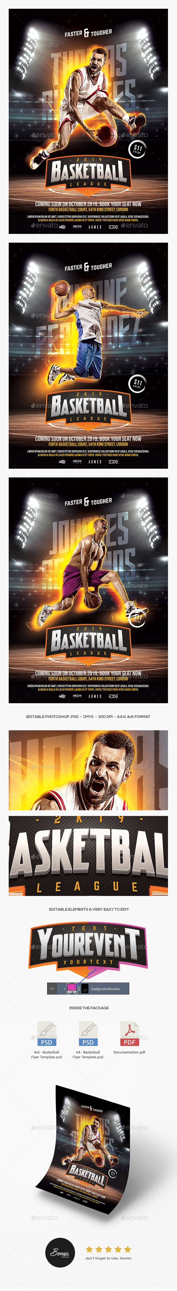 GraphicRiver Basketball Flyer 20450382