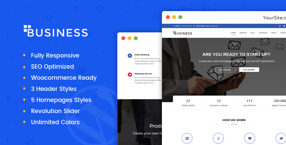 Business - Multi-Purpose Portfolio and Woocommerce WordPress Theme