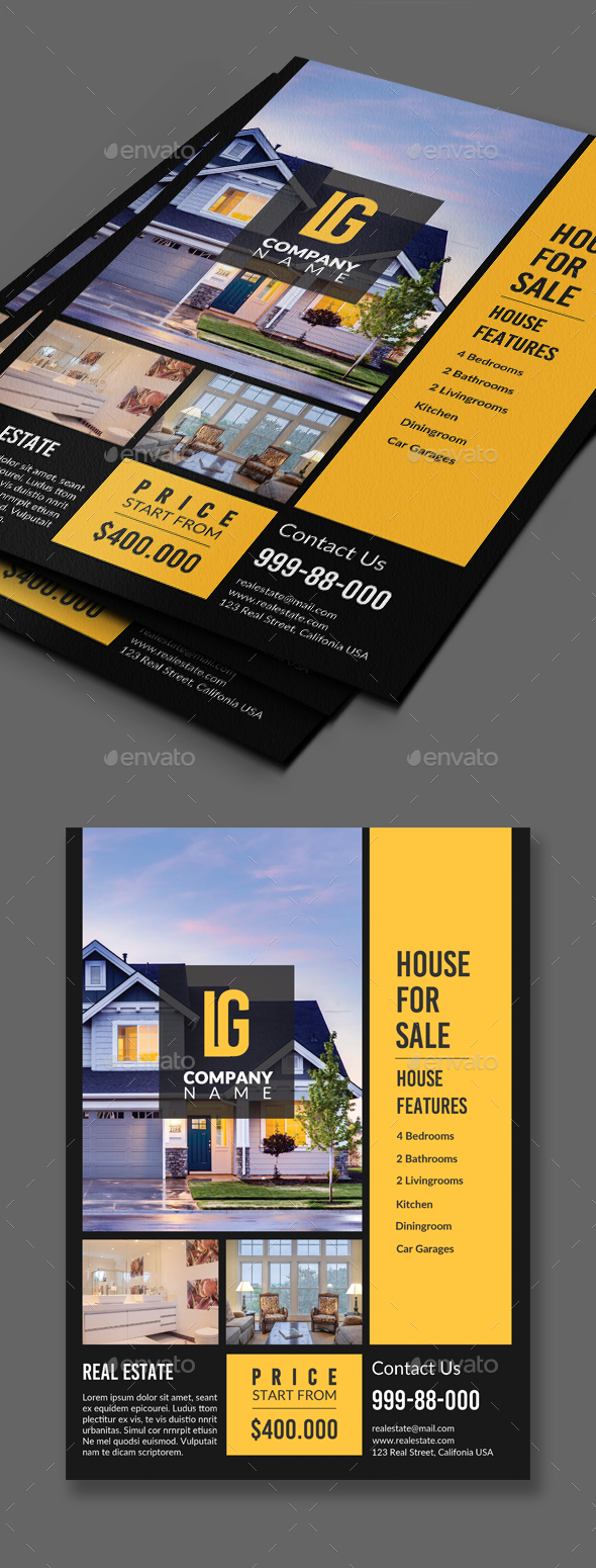 Real Estate Flyer - Corporate Business Cards