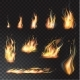 Vector Isolated Set of Transparent Realistic Flame - GraphicRiver Item for Sale