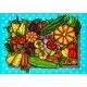 Vector Cartoon Illustration of Various Vegetables