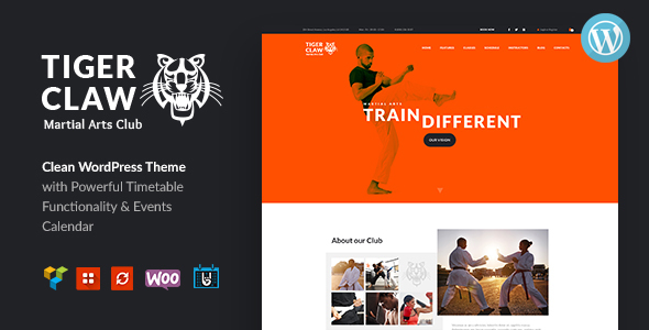 Tiger Claw | Martial Arts School and Fitness Center WordPress Theme - Health & Beauty Retail