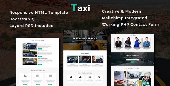 Image of Taxi - Multipurpose Responsive HTML Template