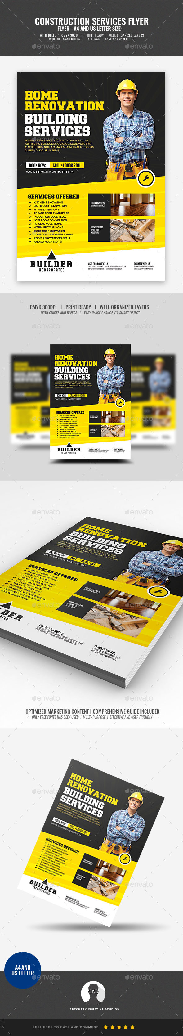 Construction Services - Corporate Flyers