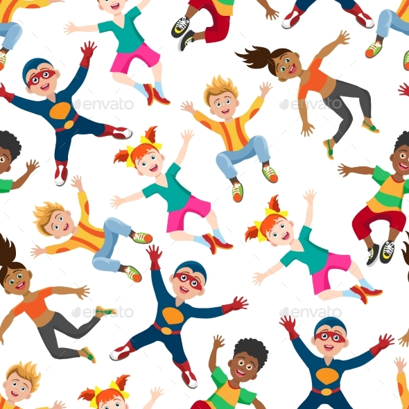 GraphicRiver Happy Kids Seamless Pattern 20450751