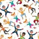 Happy Kids Seamless Pattern