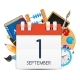 Calendar Icon of 1 September. Vector Illustration - GraphicRiver Item for Sale