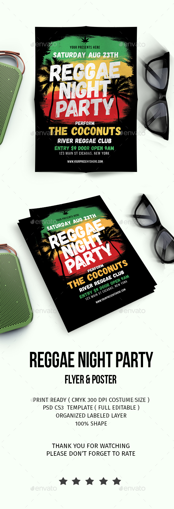Reggae Music Party - Events Flyers