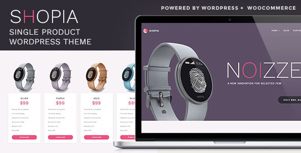 Shopia - Single Product WooCommerce WordPress Theme