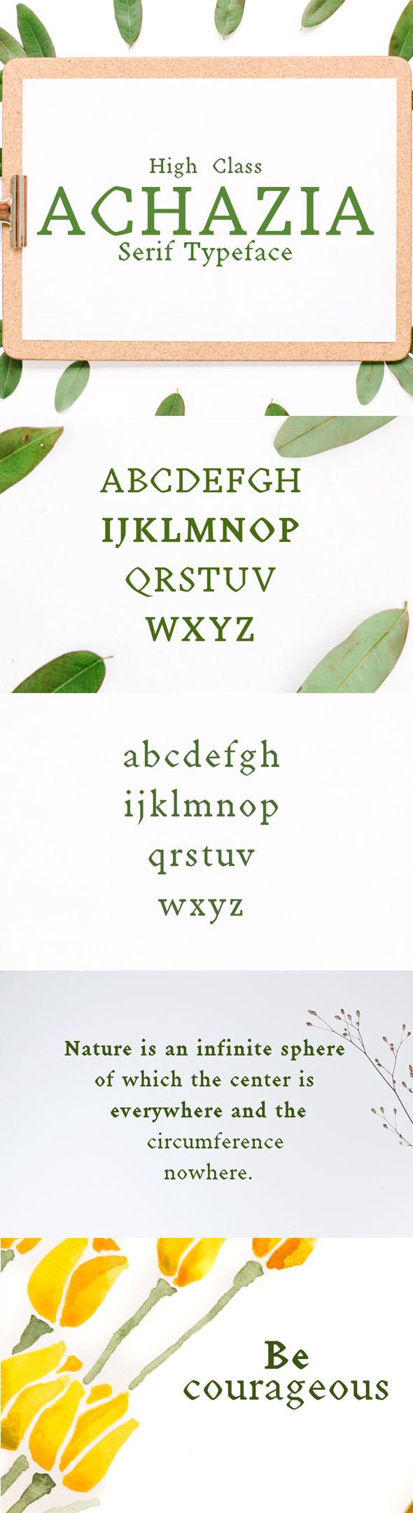 Achazia Serif Typeface - Serif Fonts