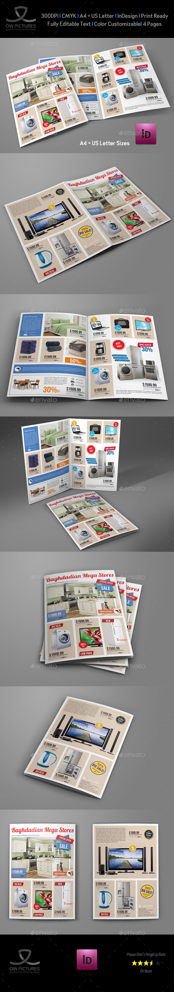 Products Catalogs Bi-Fold Brochure Template Vol.4 - Catalogs Brochures