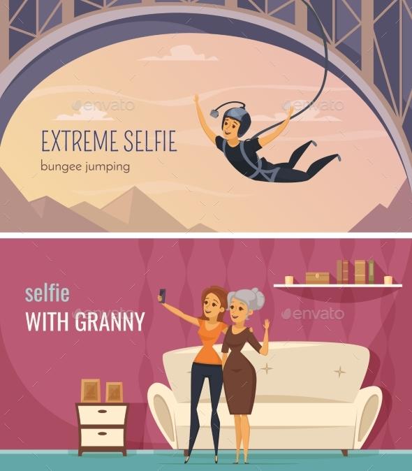 Selfie Banners Set - Sports/Activity Conceptual