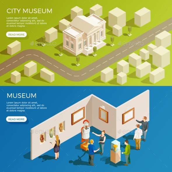 GraphicRiver Urban Museum Banners Set 20451033