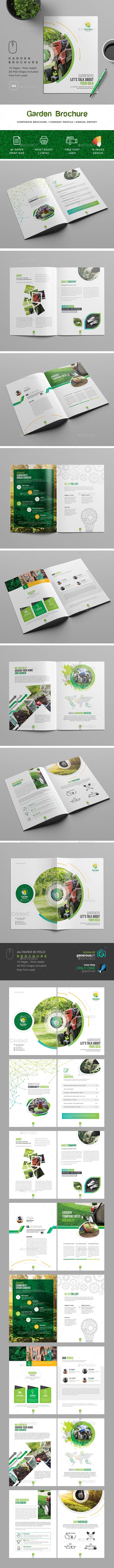 Garden Brochure Template - Brochures Print Templates