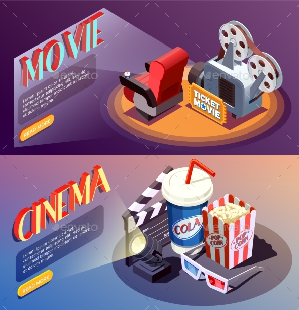 GraphicRiver 3D Cinema Banners Collection 20451078