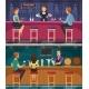 Cocktail Bar Cartoon Horizontal Banners