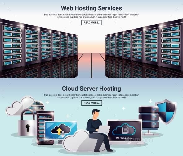 Datacenter Banner Set - Computers Technology