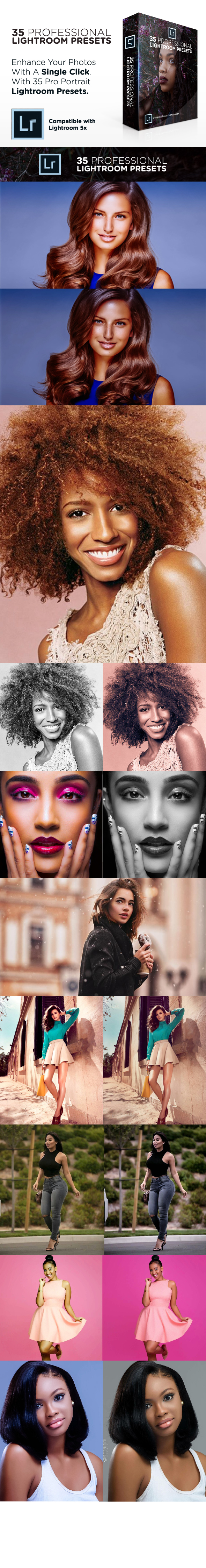 35 Professional Portrait Lightroom Presets - Portrait Lightroom Presets