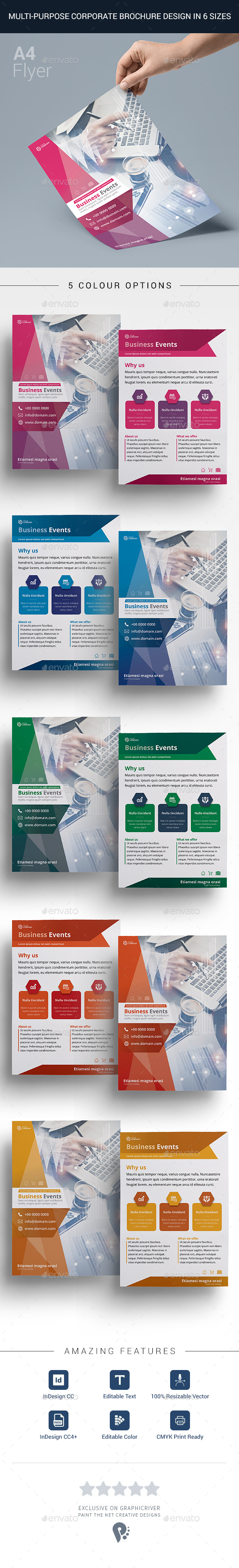 GraphicRiver Corporate Design A4 Flyer 20451246