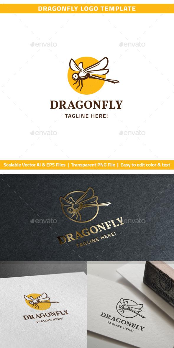 Dragonfly Logo - Animals Logo Templates