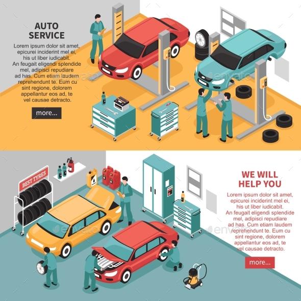 Auto Service Banners - Miscellaneous Vectors