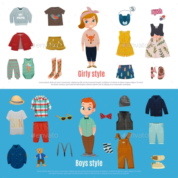 Baby Fashion Banner Set - Man-made Objects Objects