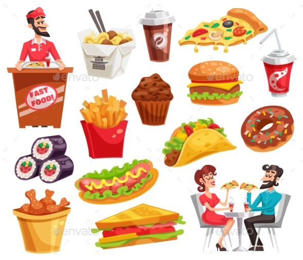 GraphicRiver Fast Food Set 20451325